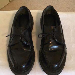 Adiev Paris Black Leather Lace Up Shoes